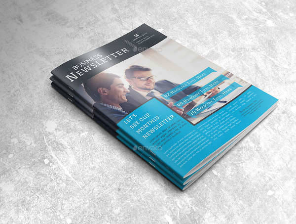 business newsletter indesign template