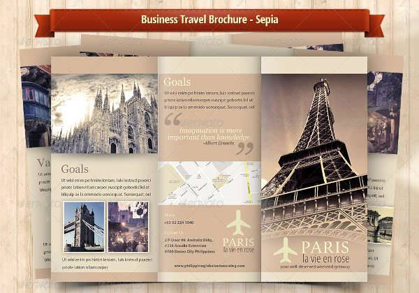 Business Travel A4 Trifold Brochure