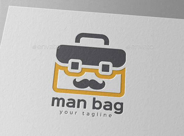 business travel bag logo