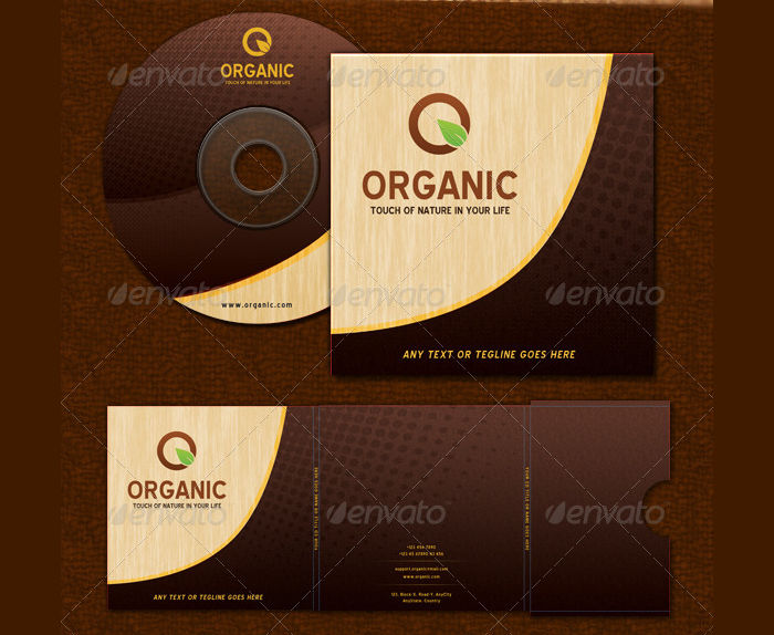 cd sticker package template