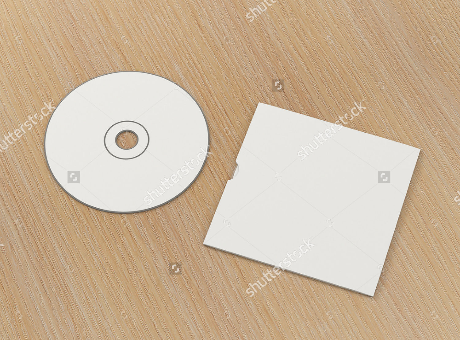 cd with cover template