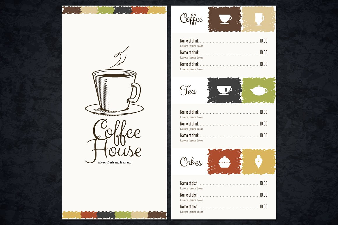 Cafe menu designs design trends premium psd