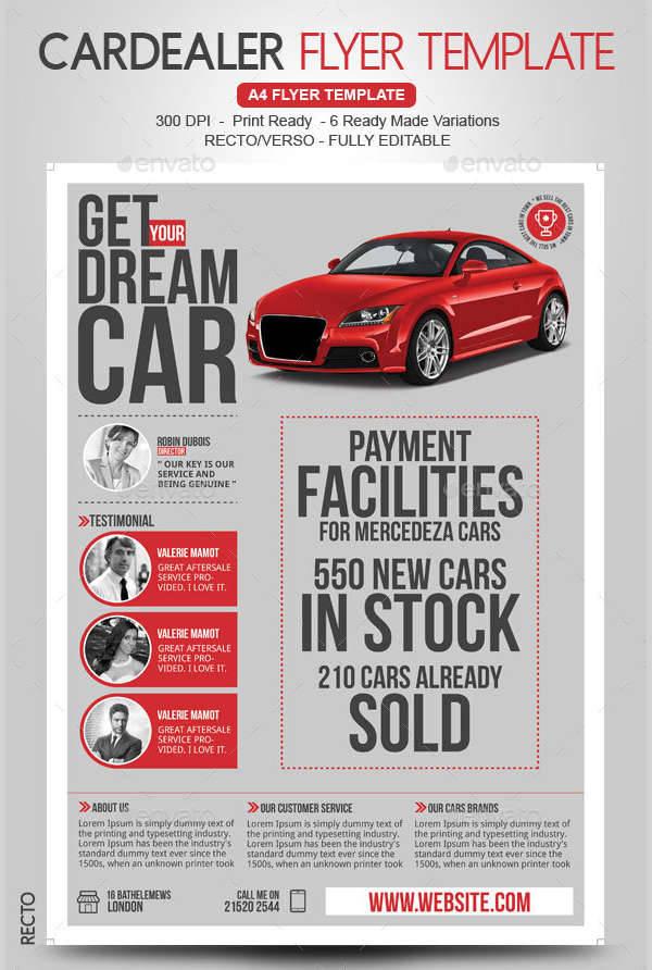 Car Dealer & Auto Services Business Flyer