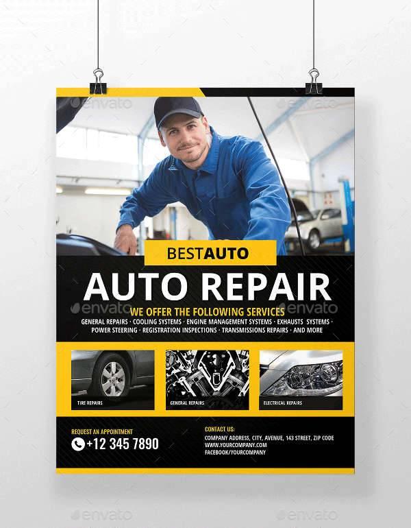 Car Fix Service Flyer