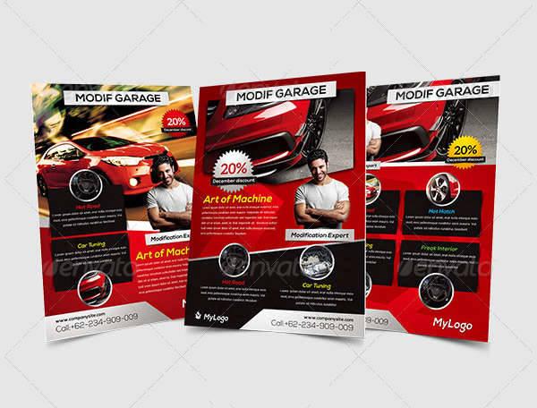 Car Modification & Service Flyer