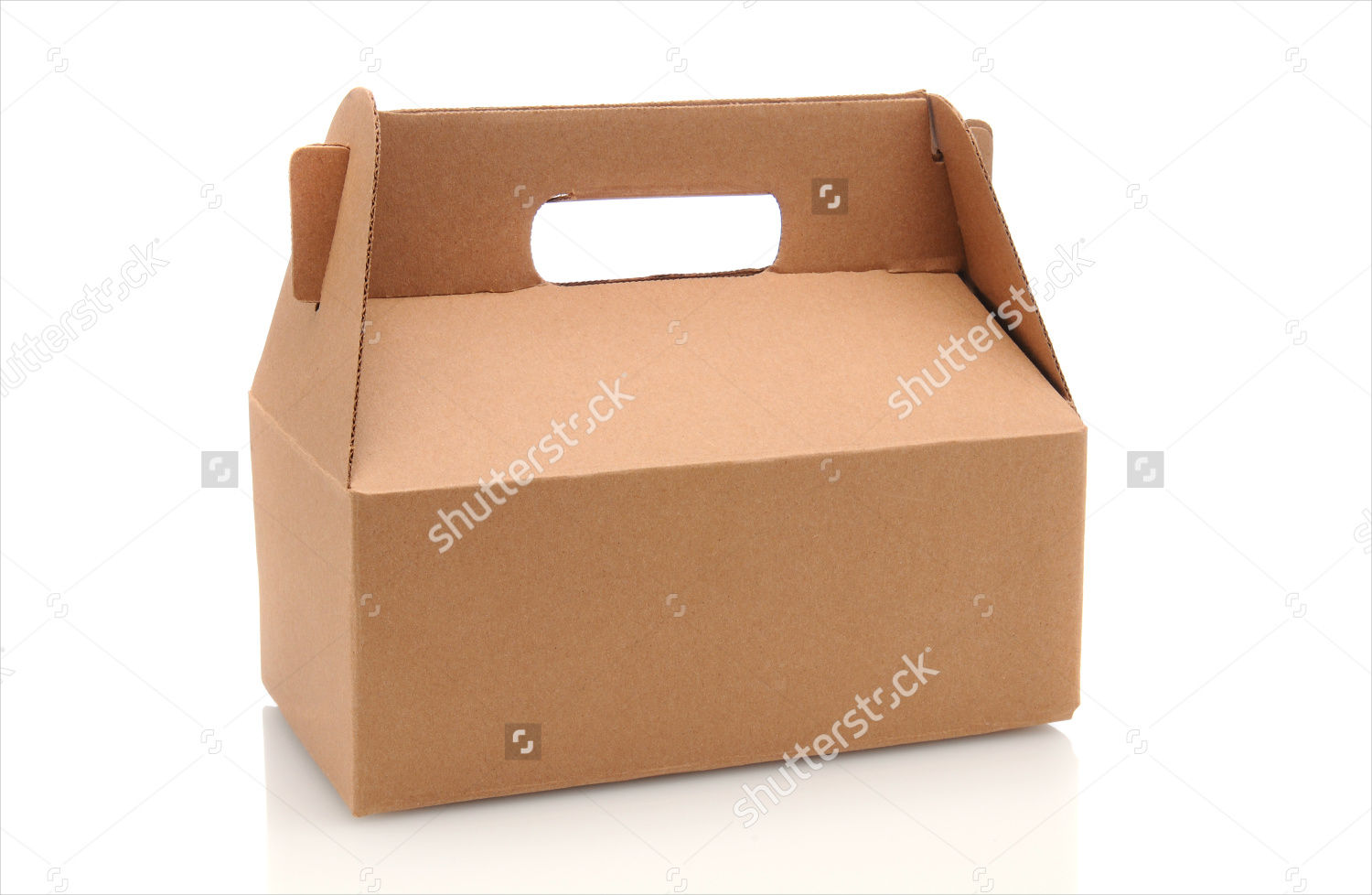cardboard box packaging with a handle
