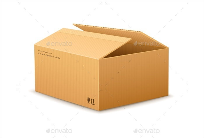 cardboard delivery packaging box
