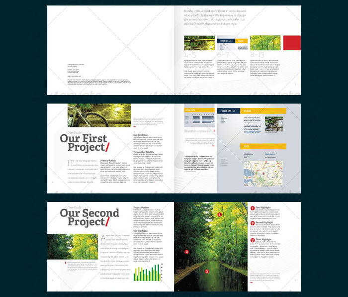case study booklet design