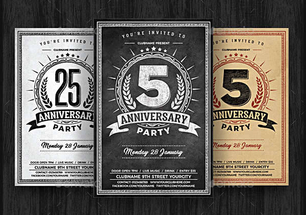 chalk anniversary party flyer