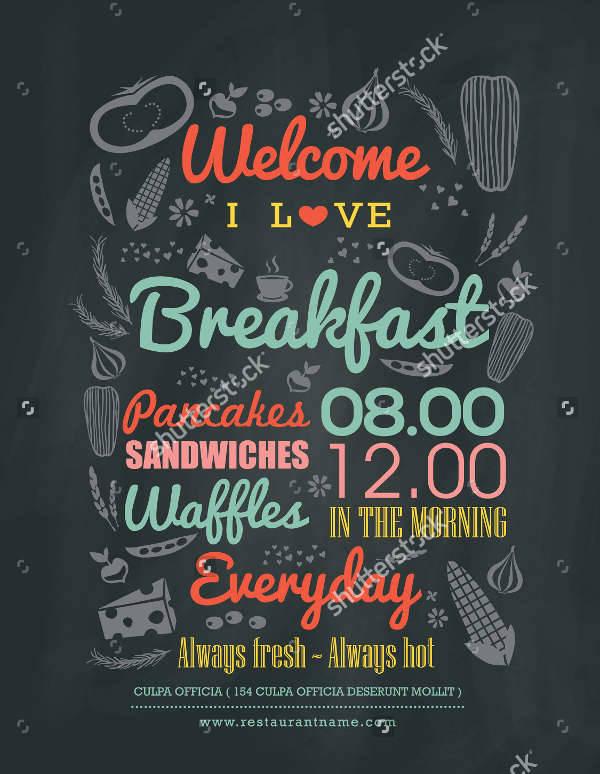 Chalkboard Breakfast Cafe Menu