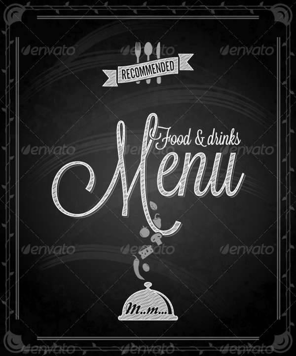 Chalkboard Dinner Board Menu