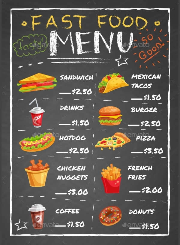 Chalkboard menu designs design trends premium psd