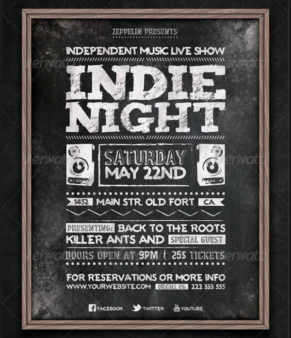 Chalkboard Indie Flyer