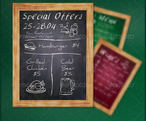 Chalkboard Restaurant Flyer