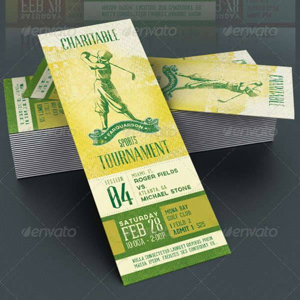 Charitable Sports Event Ticket
