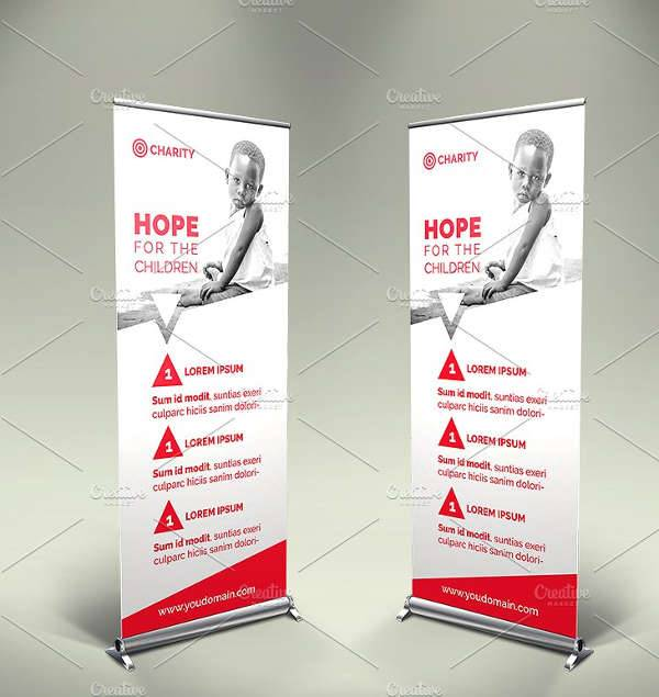 Charity Event Roll up Banner