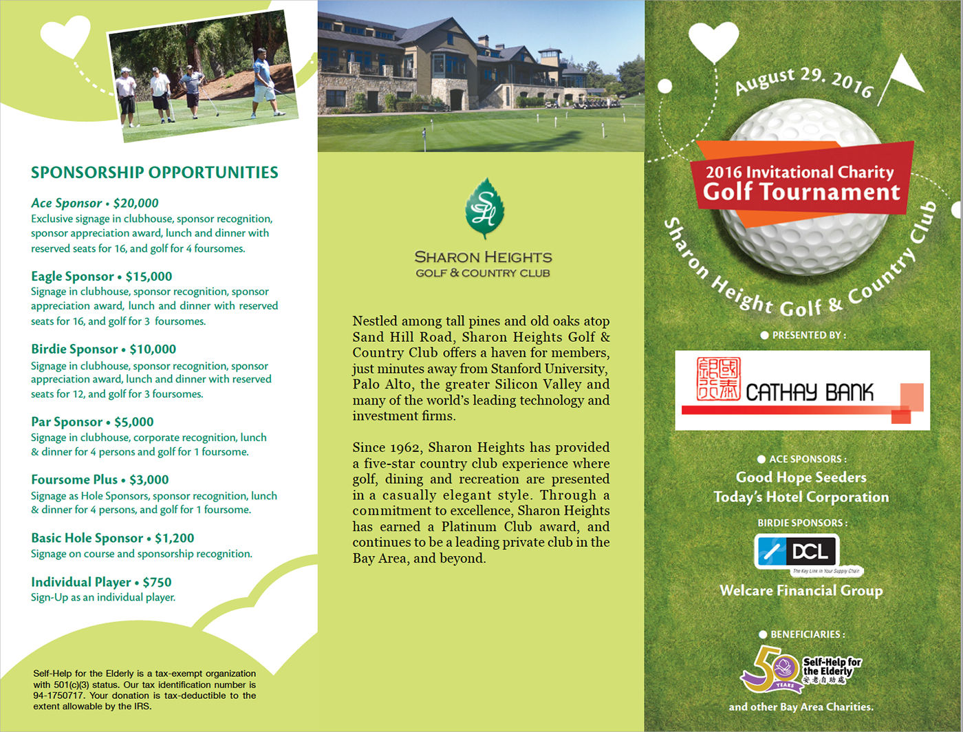 charity golf booklet design