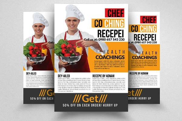 Chef Cooking Lessons Flyer