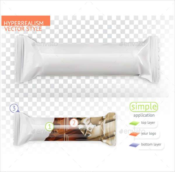 chocolate bar wrapper packaging template