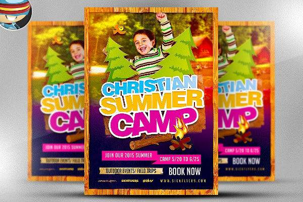 Christian Summer Camp Flyer