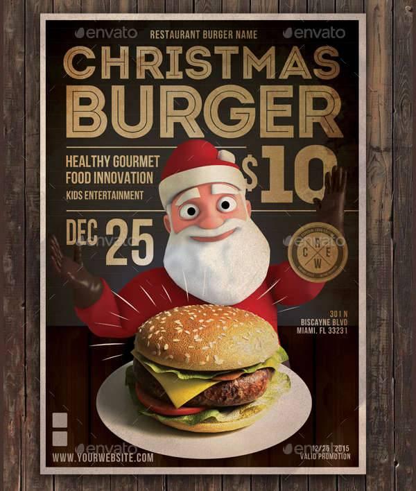Christmas Burger Flyer