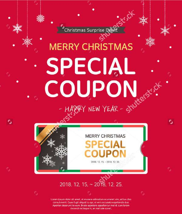 Christmas Coupon Template  Coupons Design Templates