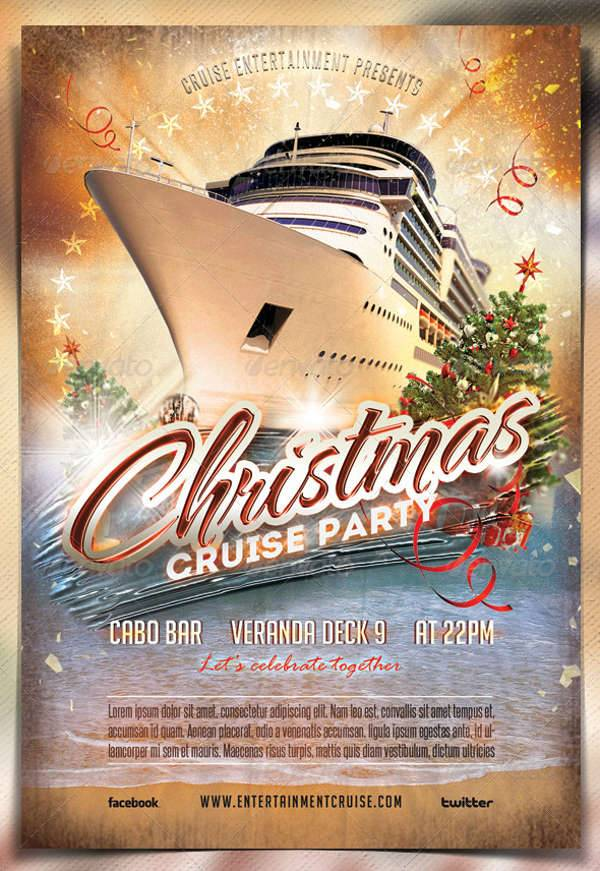 Christmas Cruise Party Flyer