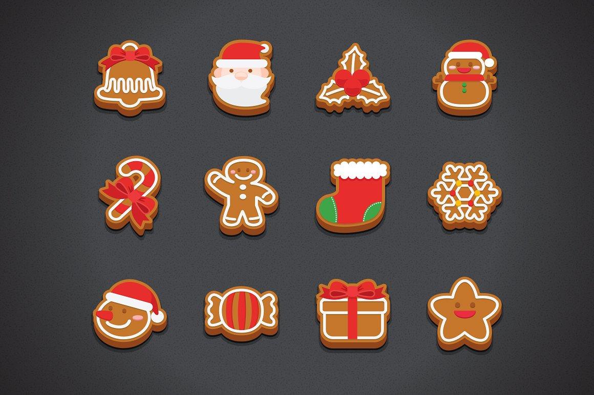 christmas food icons