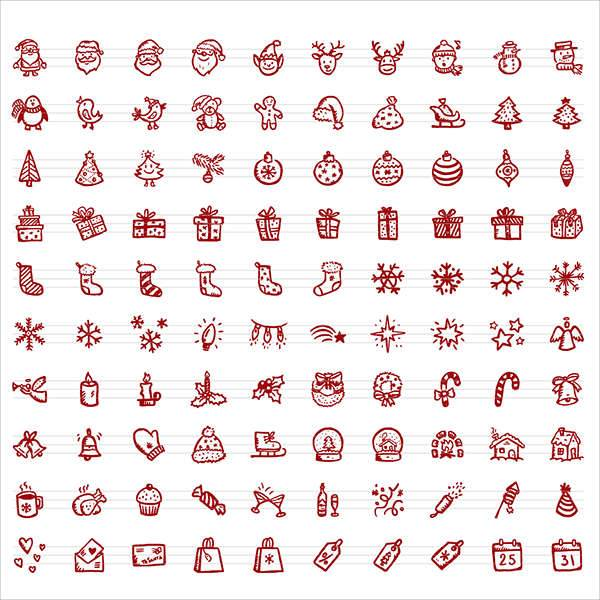 Christmas Hand-drawn Icons