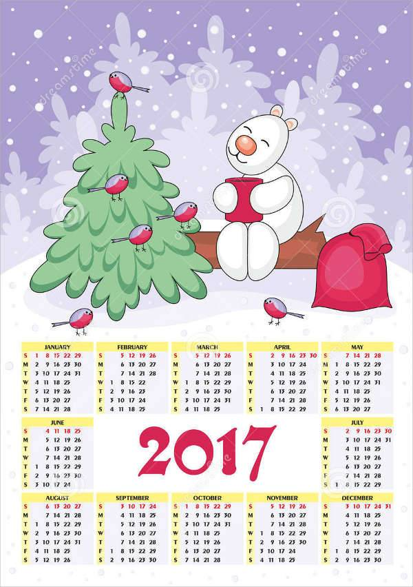 christmas new year calendar