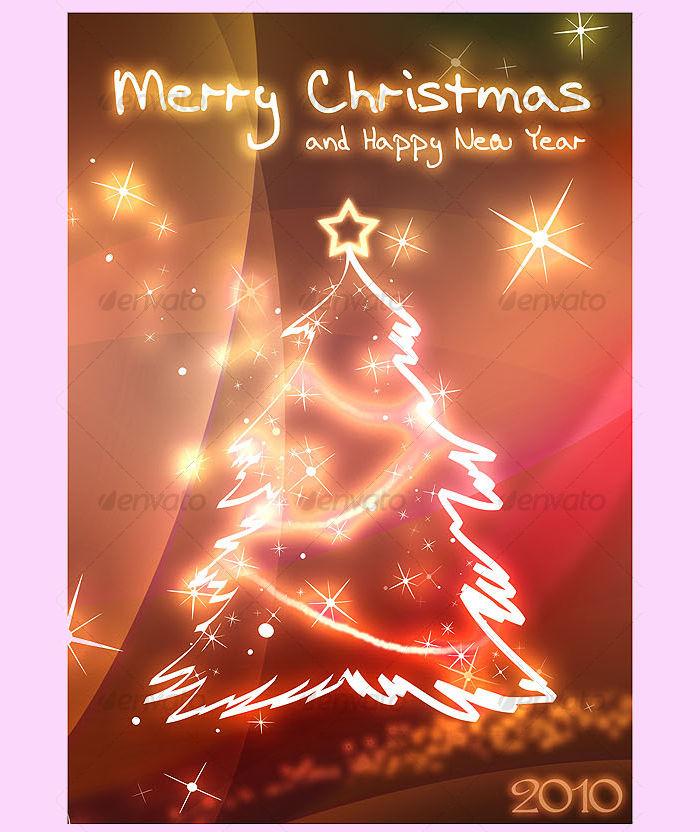 Christmas & New Year Holiday Card