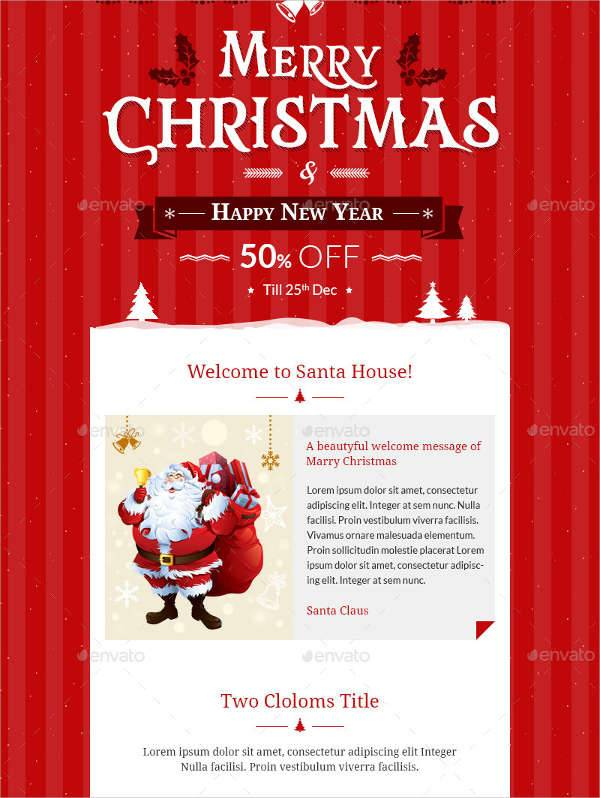 christmas newsletter photoshop template