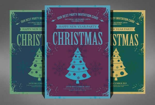 Christmas Retro Party Flyer