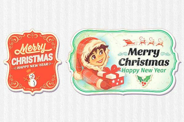 Christmas Sticker Label