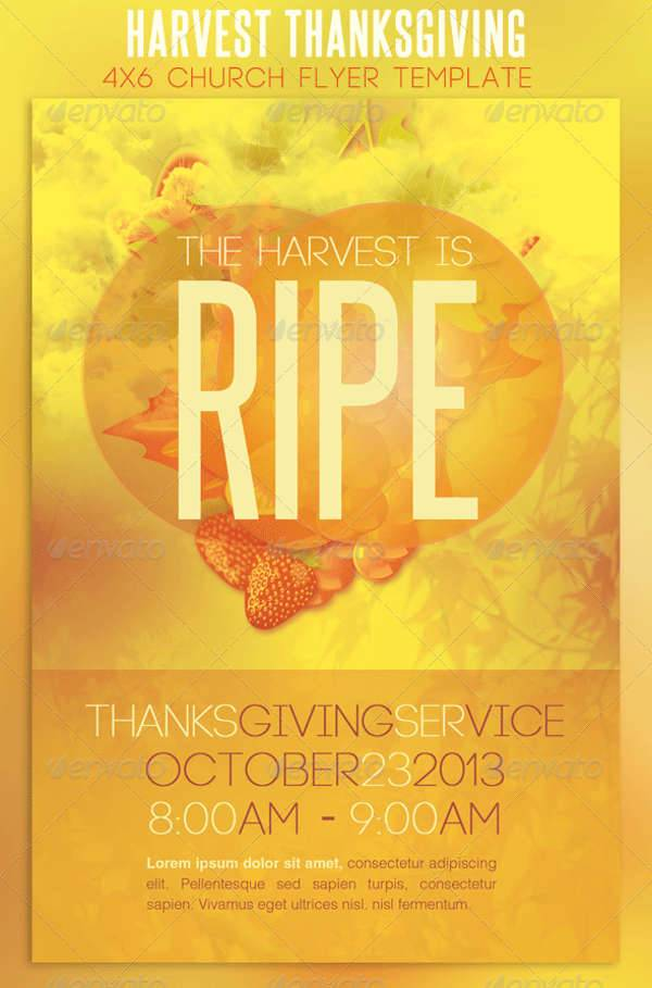 Church Harvest Thanksgiving Services Flyer