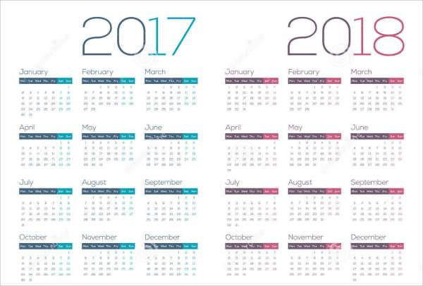 clean business calendar