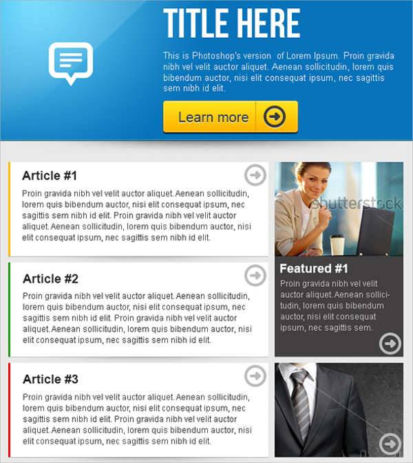 clean email business newsletter design