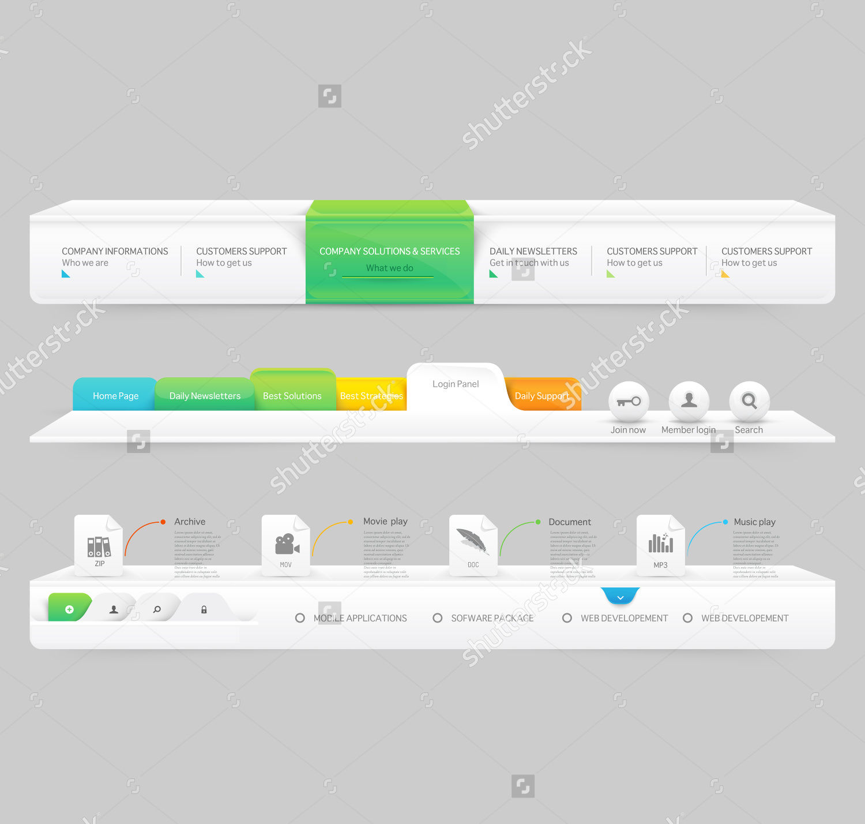 clean navigation menu set