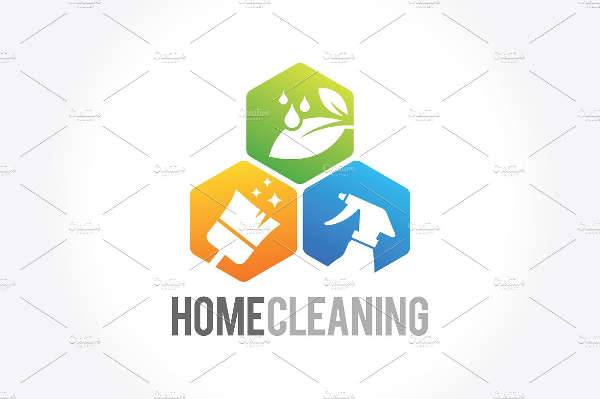cleaning service business logo