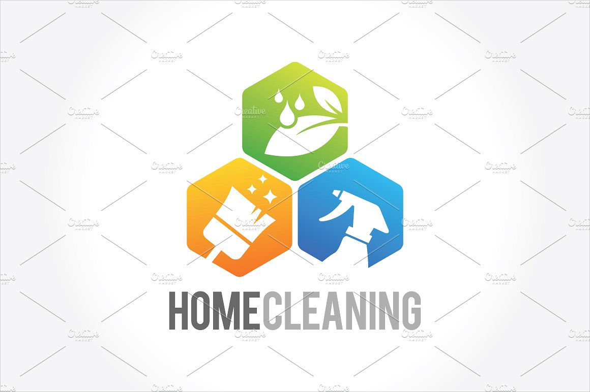 cleaning service company logo
