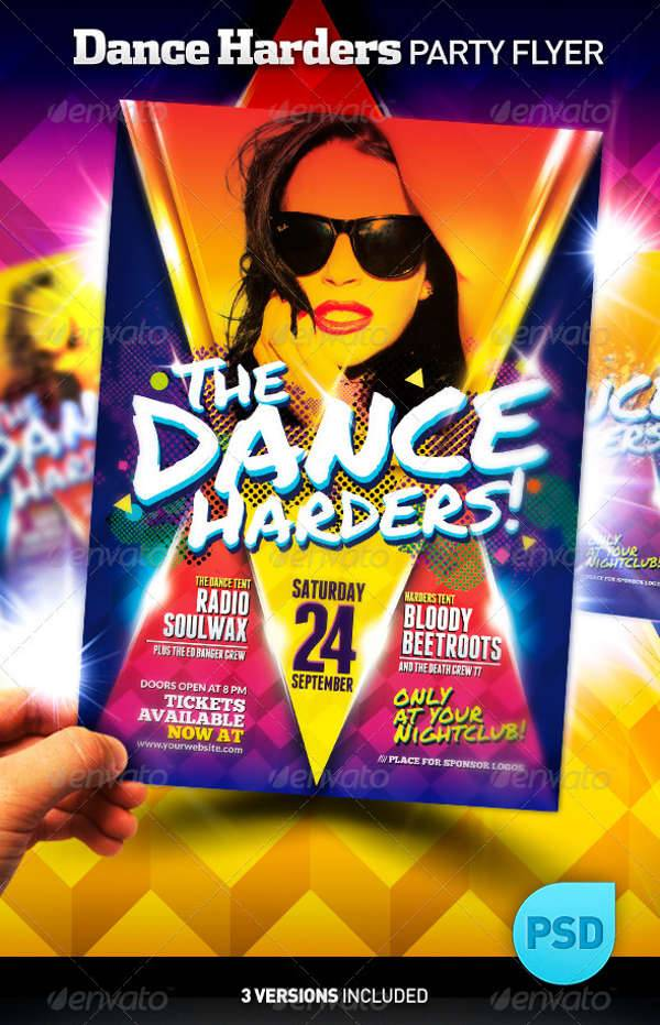 15  dance party flyers