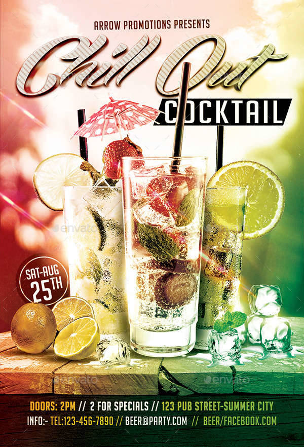 Cocktail Chill Out Flyer