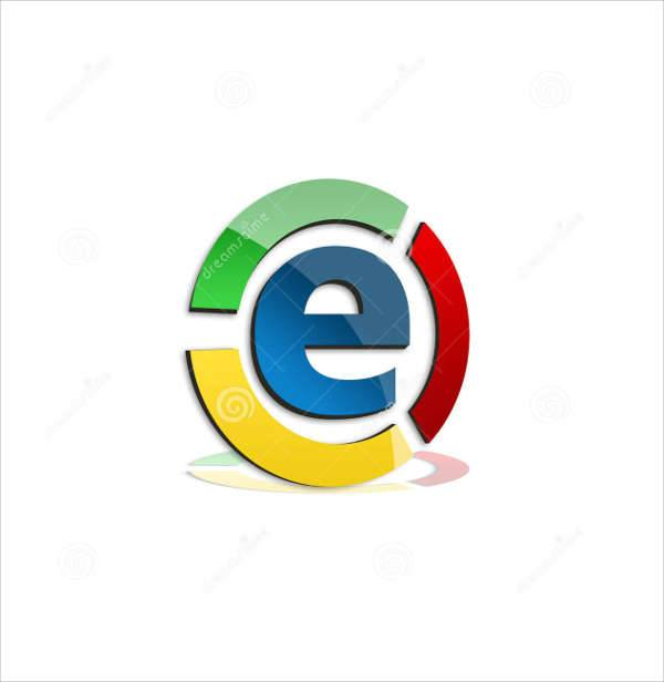 colorful e business logo