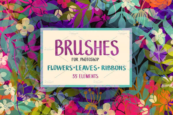 Colorful Floral Brushes