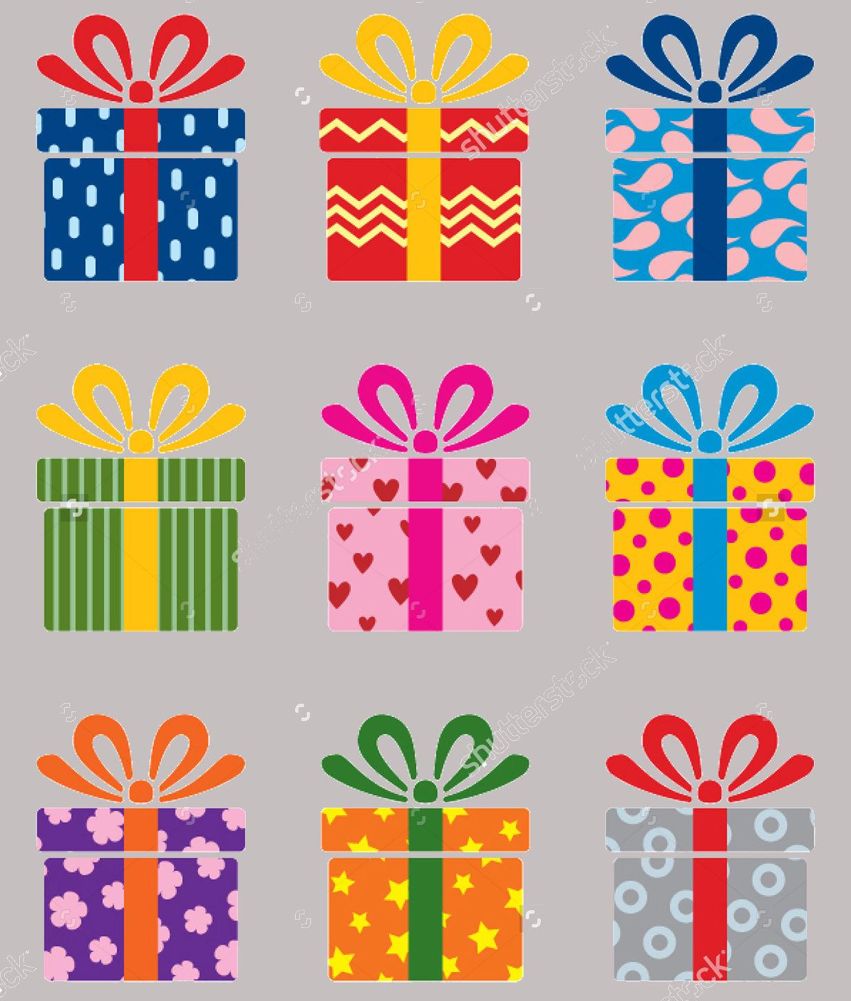 colorful gift box set
