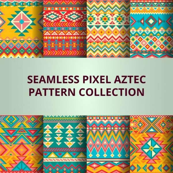 colorful pixels patterns