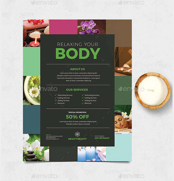 Colorful Spa Flyer