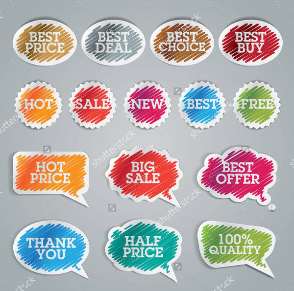 Colorful Vector Sale Sticker