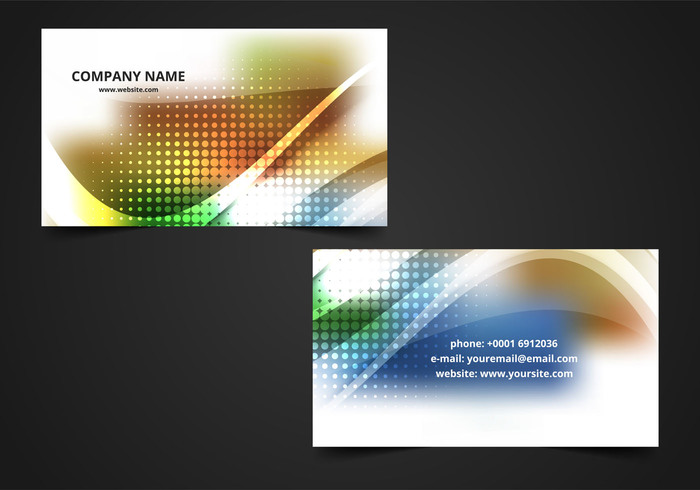 colorful visiting card