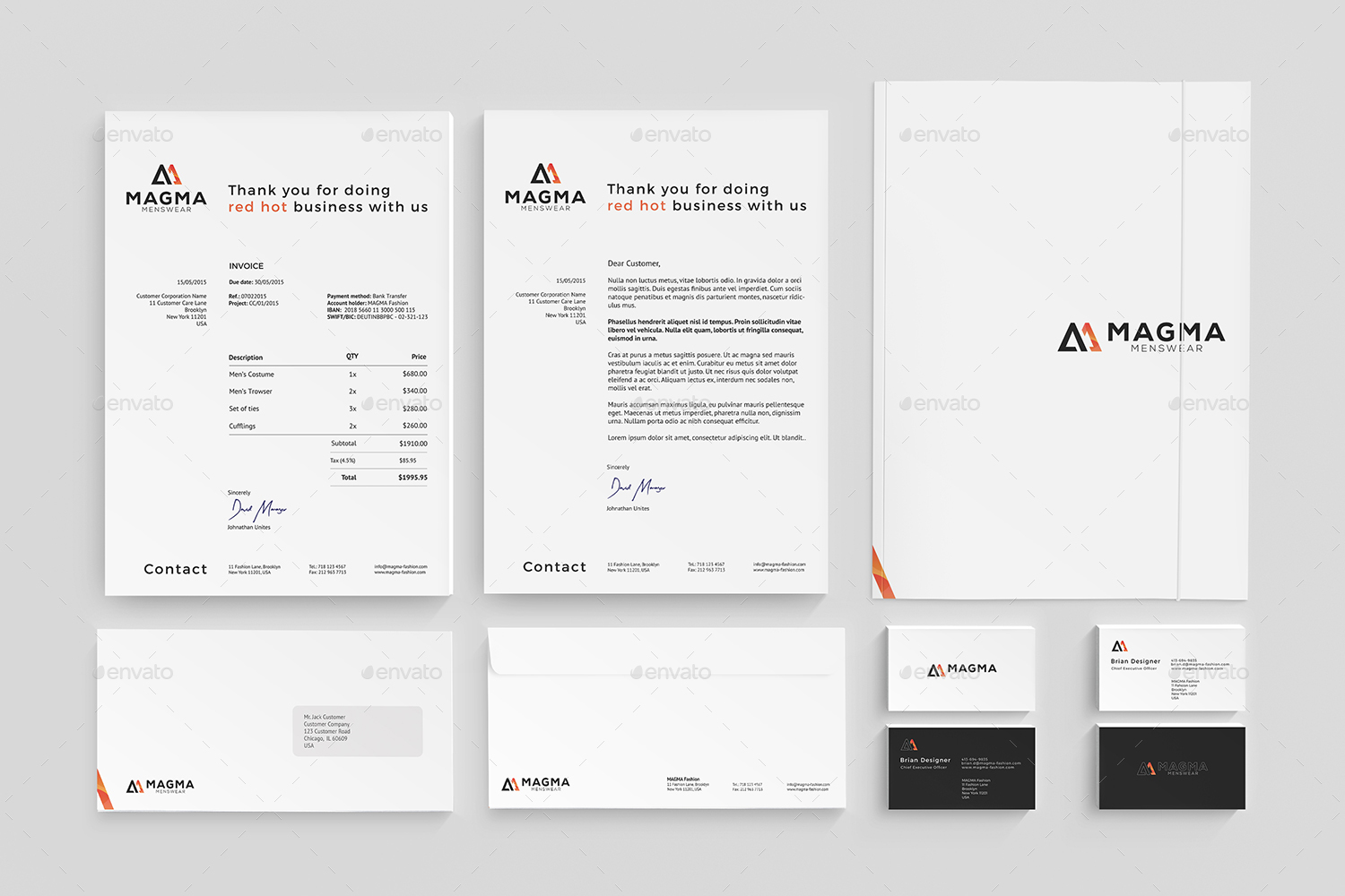 company stationery design psd